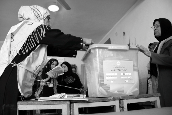 women voting in afghanistan